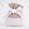 Fai da Te 20 Sacchetti Porta Confetti Bianchi con Rosa in Gesso - per Battesimo - Comunion...