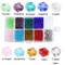 Bingcute, perline di vetro bicono per la creazione di gioielli in cristallo sfaccettato, 1...