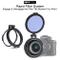 Staffa di montaggio filtro ND a innesto rapido Anello adattatore per obiettivo rapido da 4...