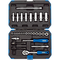 Draper BD47M 1/10,2cm centimetri. Dr. Metric socket set (47pezzi), blu