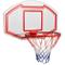 FESTNIGHT Set Canestro a Muro da Basket,Pallacanestro a Muro 90x60 cm in Acciaio per Eeste...