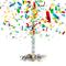 Relaxdays Cannone Sparacoriandoli 80 cm, Idea Regalo, Decorazione per Feste e Carnevale, G...