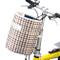 Cestino Anteriore Pieghevole per Il Ciclismo Borsa da Manubrio da Bicicletta in Tela Imper...