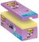 Post-It Super Sticky Tradizionale Confezione Risparmio, Foglietti Formato 76 x 76 mm, 16 B...