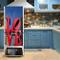 Yazi - Adesivi per frigorifero, motivo Art Love, in vinile, 60 x 150 cm