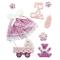 Rayher 58431000adesivi decorativi Baby ragazza con punto appiccicoso, sacchetto SS 8pezz...
