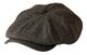 Gamble & Gunn, 'Shelby' Newsboy Cap, berretto in panno grigio a spina di pesce Grey Herrin...