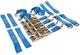 Silverline 9116642000kg Auto Transporter Set di Fissaggio in Lega e Ruote in Acciaio