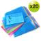 Rapesco cartelle a busta portadocumenti, trasparenti colorati, A4+ protocollo, 354mm x 243...