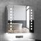 Quavikey Armadietto da Bagno con Specchio e Illuminazione LED 65x60x13 cm Retroilluminazio...