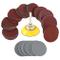 Dischi Abrasivi 100 pezzi Dischi di Carta per Levigatrice 50mm Carta Vetrata Grana da 80/1...