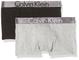 Calvin Klein 2 Pack Trunk Boxer, Multicolore (1 Black / 1 Grey Heather 034), 164 (Taglia P...