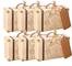 AmaJoy Mini Confezione Regalo a Valigetta, con 50 Cartellini in Carta Kraft e Filo di Juta...