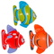 CREATIVE- Pesce Tropicale Gonfiabile 3 Pezzi Multi Colori, Multicolore, 8714572205726