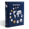 Optima Münzalbum World Money, mit 5 Verschiedenen Optima Münzhüllen, Blau