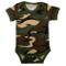 Body bambino neonato mimetico camo con maniche militare woodland mezze maniche (6-12 Mesi)