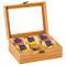 Kesper 50902 - Scatola Porta tè in bambù, 21,7x16x9 cm