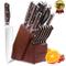 homgeek Coltelli da Cucina, 15 Pezzi Set Coltelli Cucina Professionali, Realizzato in Acci...