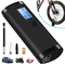 VEEAPE Compressore d'aria portatile con batteria ricaricabile 2000 mAh, mini pompa da bici...