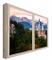 CCRETROILUMINADOS Neuschwanstein, Castello Illuminato per finestre Baviera Finte Quadri De...
