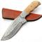 PAL 2000 SGMT-9382 - Coltello Damasco Realizzato a Mano, Manico in Legno d'ulivo, 25 cm, c...