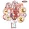Palloncini in Oro Rosa e coriandoli Palloncini in Lattice Glitterato 30,5 cm per Baby Show...