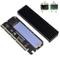 QNINE Adattatore NVME PCIe x16 con dissipatore, chiave disco rigido M.2 da M a scheda di e...