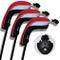 Andux 3pcs coprimazza da Golf per ibridi Intercambiabile No. Etichetta Copri Mazze (Rosso)