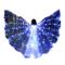NIUQY Danza del Ventre Abbigliamento Bambina Luminoso LED Colorate Farfalla Mantello Vesti...