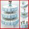 Struttura torta in cartoncino con fette portaconfetti Disney Topolino bianche e celesti bo...