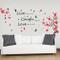 Walplus - Adesivi da parete per stanza dei bambini con scritte, fiori e farfalle, grandi