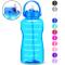 BuildLife Motivational - Borraccia da 2 l, senza BPA, con cannuccia e supporto per telefon...