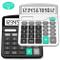 Calcolatrice,Splaks 2 Pack Standard Calcolatrice da Tavolo Funzionale Sola e AA Batteria c...