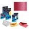 10 BUSTE LETTERA PARTECIPAZIONE FAVINI SPECIAL EVENTS METALLIZZATE 17x17cm 120gr (Rosso)
