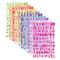 10 Colori Letter Stickers Adesivi Lettere Alfabeto Colorate Autoadesivi Stickers Glitter A...