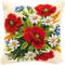 Vervaco, Kit per Cuscino Ricamato a Punto Croce Bouquet di Fiori