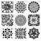 Awsuc Stencil di Pittura, Mandala Stencil riutilizzabili, Set di 9 Painting Stencil,Pittur...