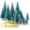KUUQA 36Pz Mini Sisal Neve Gelo Alberi Alberi di Natale Spazzole per bottiglie Alberi Plas...