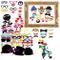 Gudotra 73 Packs 72pcs Set di Accessori di Carta Photo Booth+ 1pz Cornice di Cartaper per...