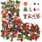 Sumind 300 Pezzi Bottone di Legno da Natale Bottoni in Resina Craft Misto Bottone di Cucit...