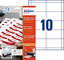 Avery Inserti Badge microperforés–Stampa Laser, a getto d' inchiostro–Bianco 54 x 90 b...