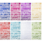 Vitasemcepli Set di 8 Adesivi Lettere Alfabeto Colorate Autoadesivi Stickers Glitter Adatt...