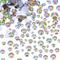 800 Pezzi Strass Piatto Posteriore Cristallo Diamante Gemme, 4 Taglie Mescolare
