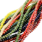 PandaHall 1400PCS Perline Vetro Colorate Giada Imitazione Sfaccettate Placcate per Braccia...
