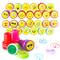 THE TWIDDLERS 36 timbri Emoji Giocattoli, Francobolli Smiley Auto Inchiostrazione Plastica...