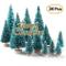 Pannow 34PCS Mini sisal Snow Frost Trees Bottle Brush Trees Winter Snow Ornamenti da Tavol...