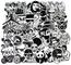 Sanmatic Sticker Pack [120pcs], Adesivi murali in Bianco e Nero Vinili per Laptop, Auto, M...