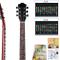 Adesivo per chitarra con mappa delle note, ideale per chi inizia a suonare. Per chitarra e...