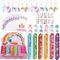 82 Pezzi Gadget Unicorno Compleanno Bambini, Portachiavi Unicorno Braccialetti Slap Sacche...