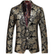 Allthemen Abito da Uomo Casual in Velluto Uomo Slim Fit Floral Prints Stylish Blazer Coats...
